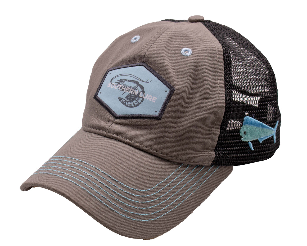 Youth Trucker Hat - Shrimp - Charcoal