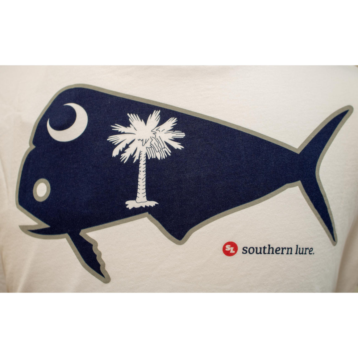 S/S Tee - SC Flag Fish - White