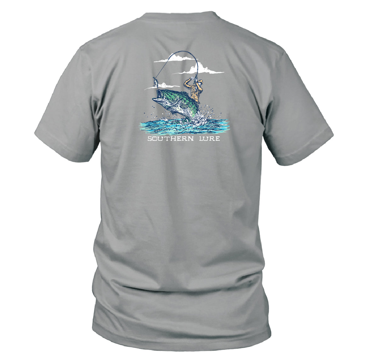Youth & Toddler- Short Sleeve Tee - Cowboy Fisherman - Granite