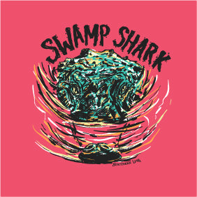 Youth - SS Tee - Swamp Shark - Coral