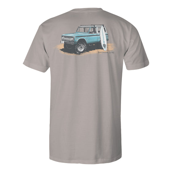 Men's Short Sleeve Cotton Tee - Classic Bronco - Granite