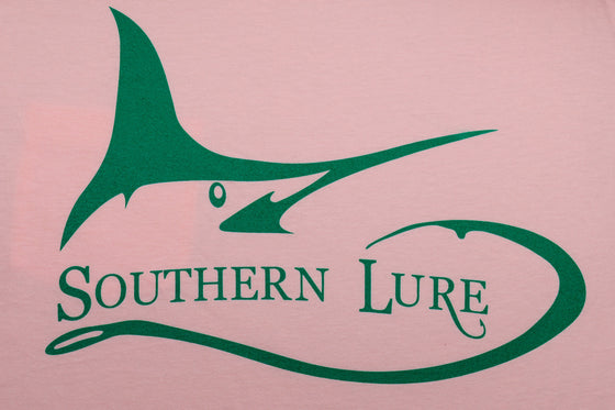 Youth Marlin Darlin High Tide Pink Tee With Green Print