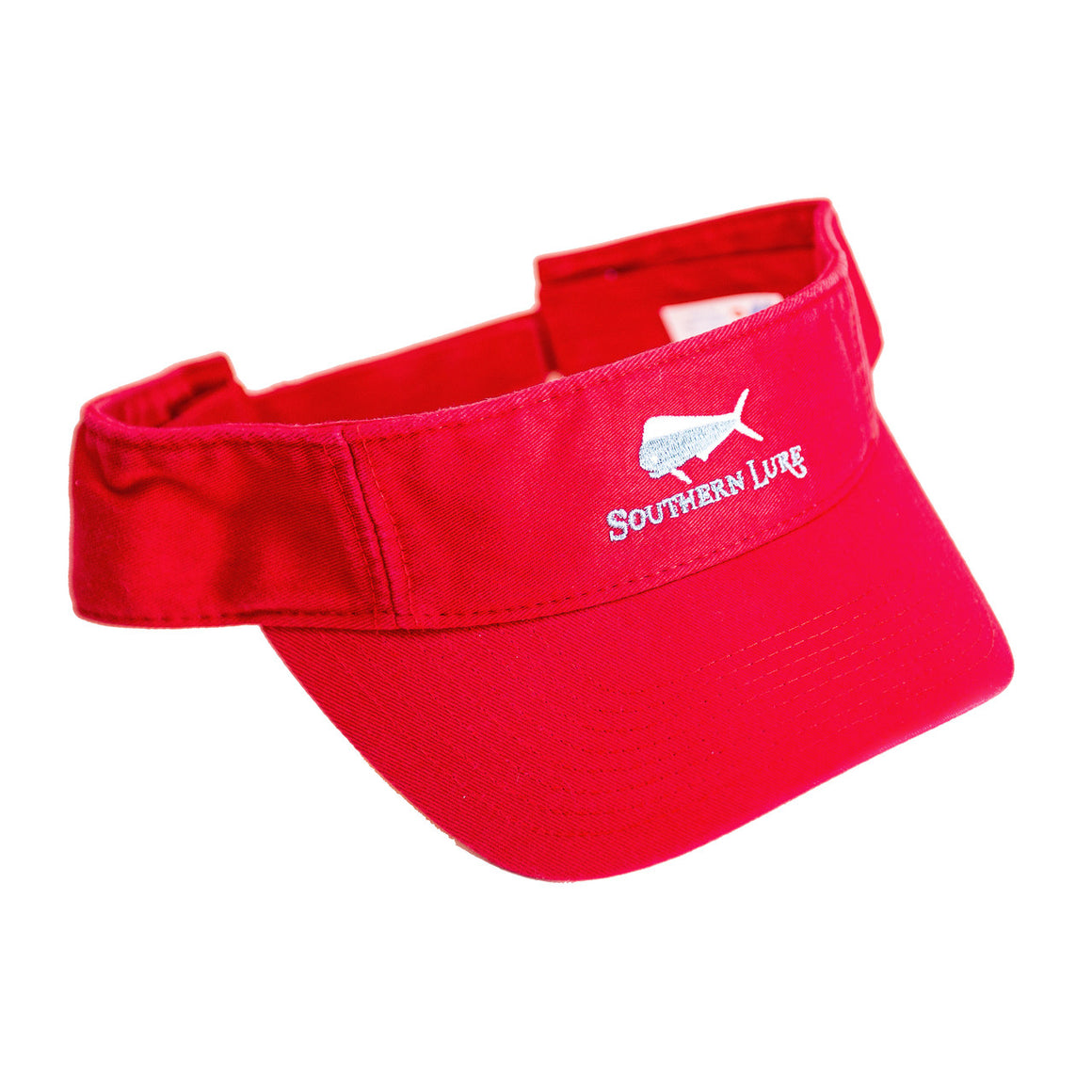 Red Pro Style Cotton Twill Washed Visor