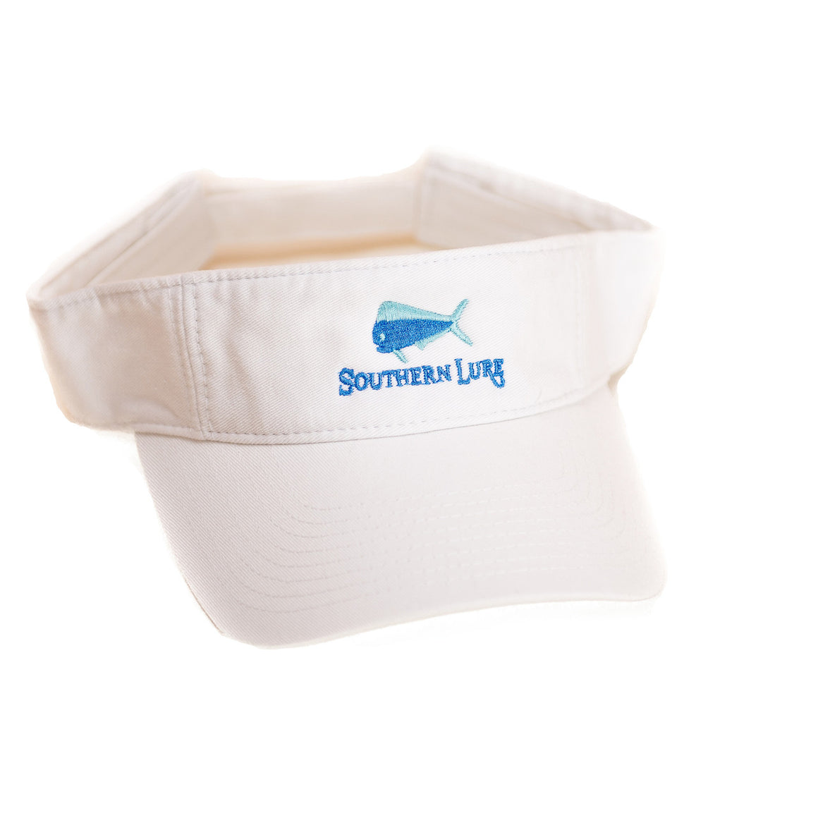 White Pro Style Cotton Twill Washed Visor