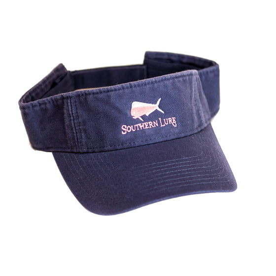 Navy Pro Style Cotton Twill Washed Visor