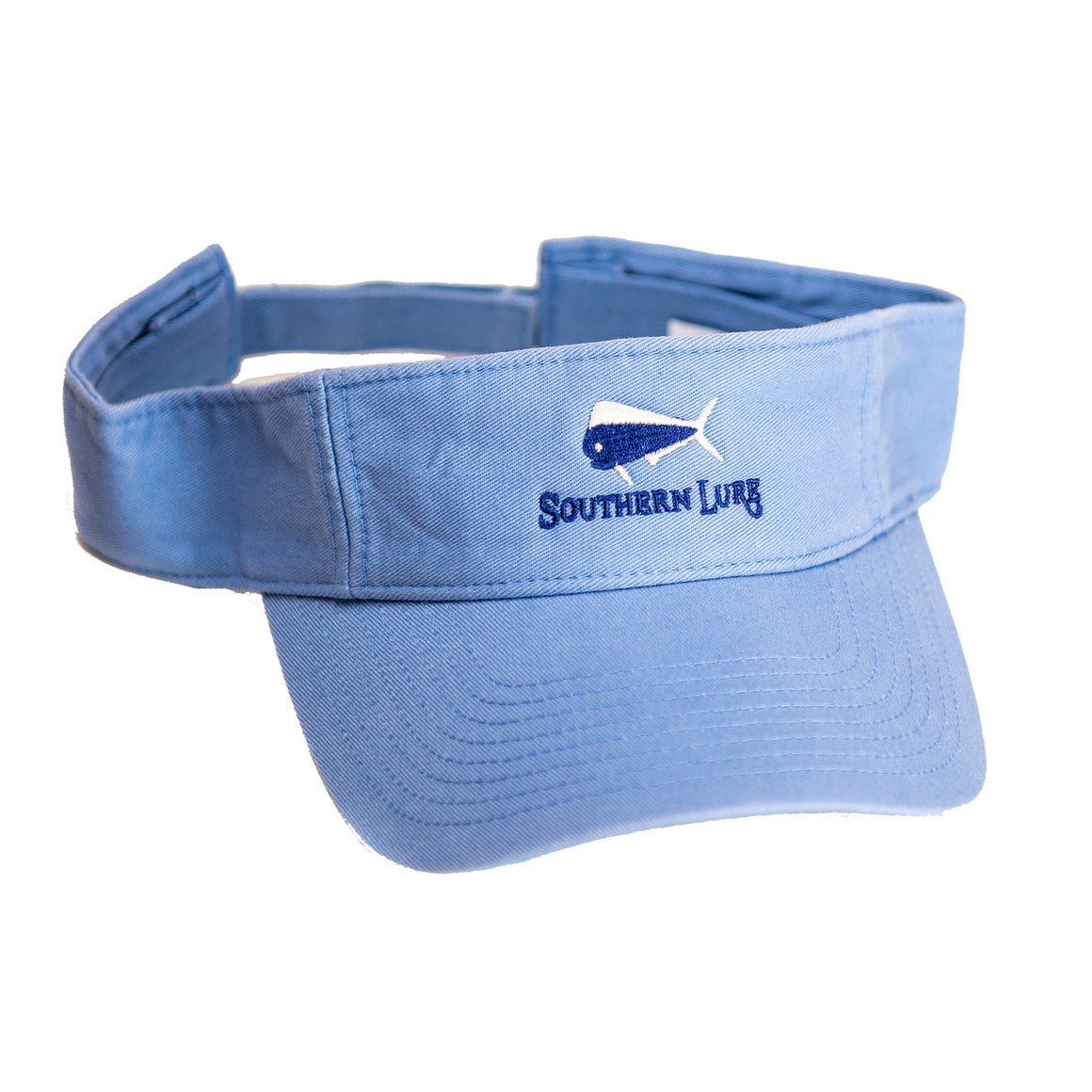 Light Blue Pro Style Cotton Twill Washed Visor