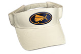 White Pro Style Visor Dark Navy/Orange Patch