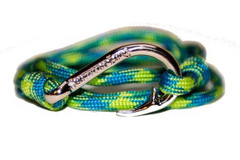 Blue & Lime Rope Bracelet