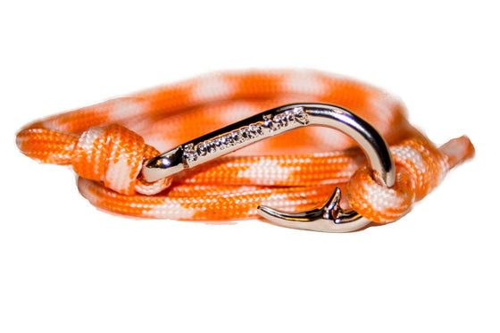 Orange & White Rope Bracelet