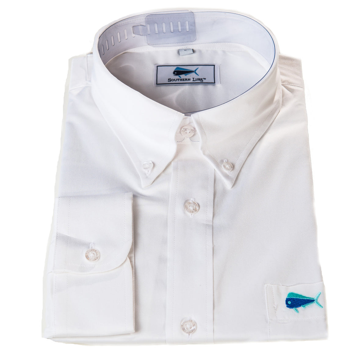 Southern Lure White Sport Shirt w/ Embroidered Logo