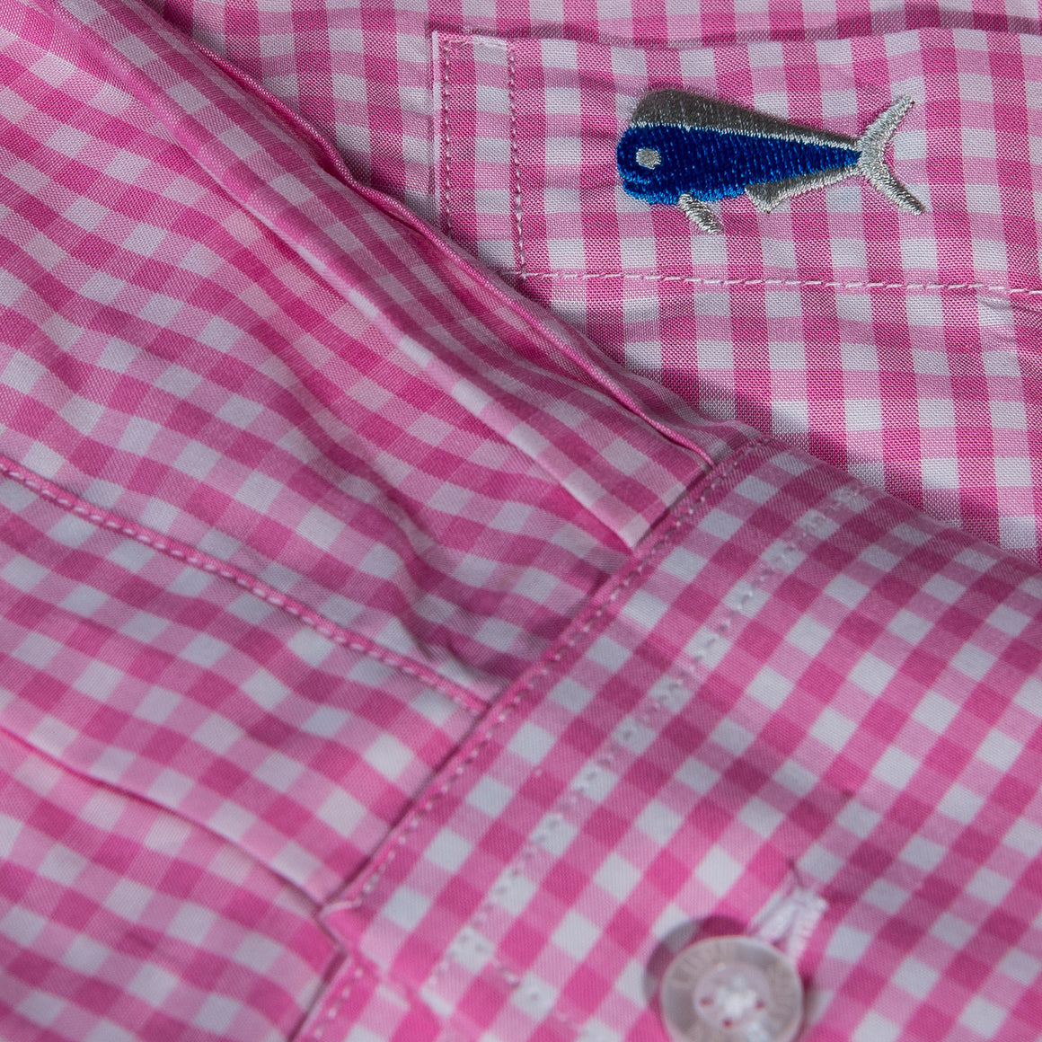 Light Pink Gingham Sport Shirt