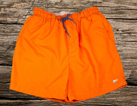 Orange Swim Trunks