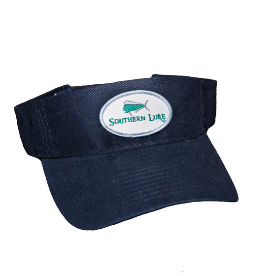 Navy Blue Pro Style Heavy Cotton Twill Patch Visor