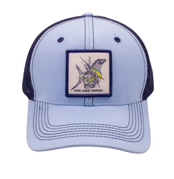 Trucker Hat - Fin & Tonic - Sky Blue/Navy
