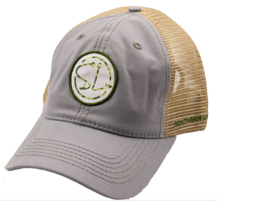 Youth - Trucker Hat - SL Logo Trucker - Charcoal-Tan