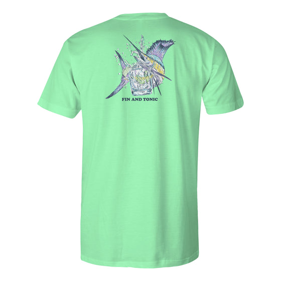 Men's Short Sleeve Cotton T-shirt - Fin & Tonic - Mint