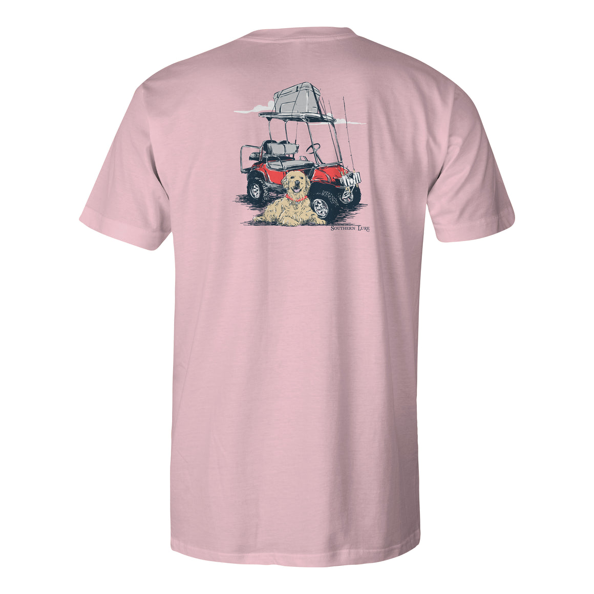 Youth & Toddler Cotton Tee - Fishing Cart V2 - Pink