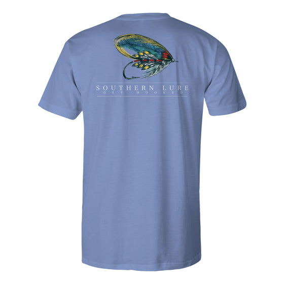 Boy's Youth & Toddler Short Sleeve CottonTee - Fly Lure - Dusk