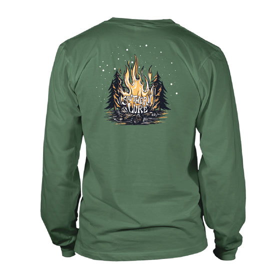 Youth & Toddler - Long Sleeve Tee - Bonfire - Oak Green