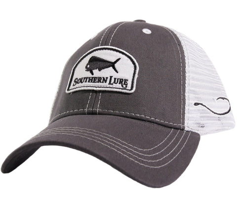 Grey White Trucker Hat