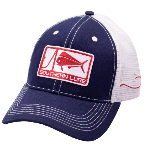 Trucker Hat - Sporty1 Patch - Navy/White