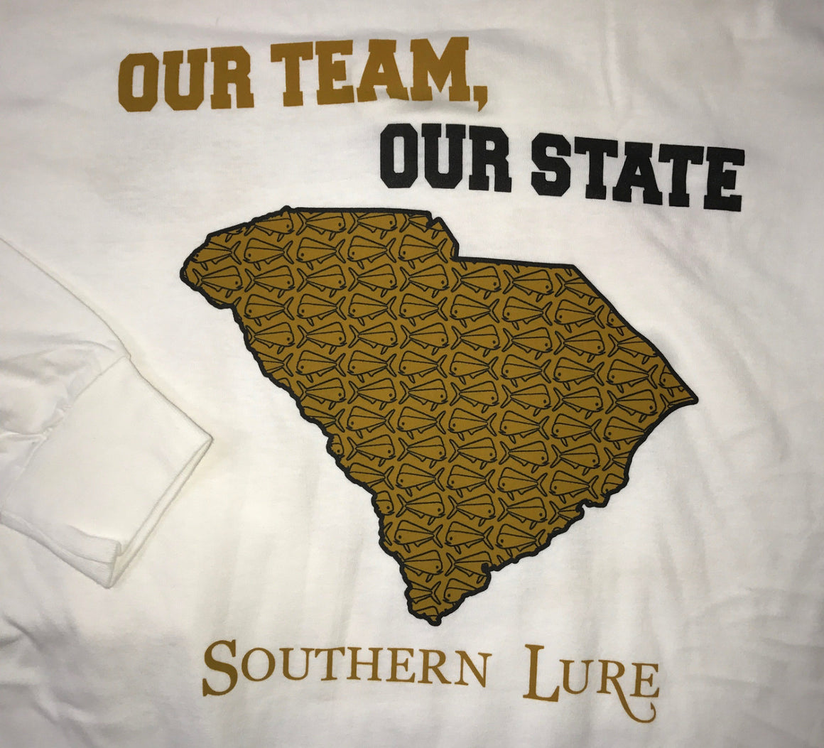 Our Team, Our State Long Sleeve Yellow and Gold