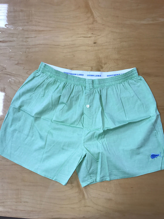 Pale Green Solid Boxers