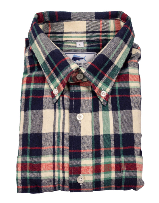Flannel Shirt - Navy/Green/Red