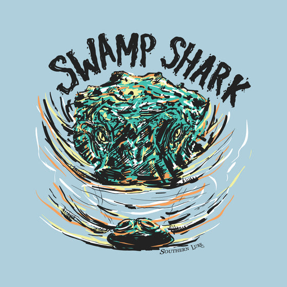Youth - SS Tee - Swamp Shark - Sky Blue