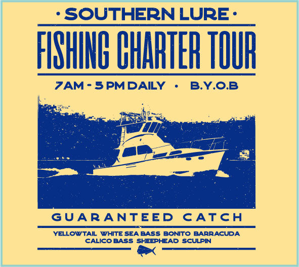 SS Tee - Charter Boat Flyer - Pale Yellow