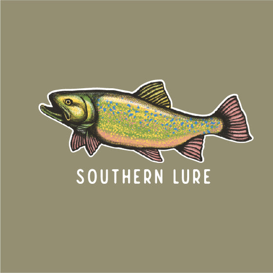 Short Sleeve Tee - Brook Trout - Khaki