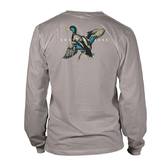 Men's Long Sleeve Cotton T shirt - Mallard - Granite