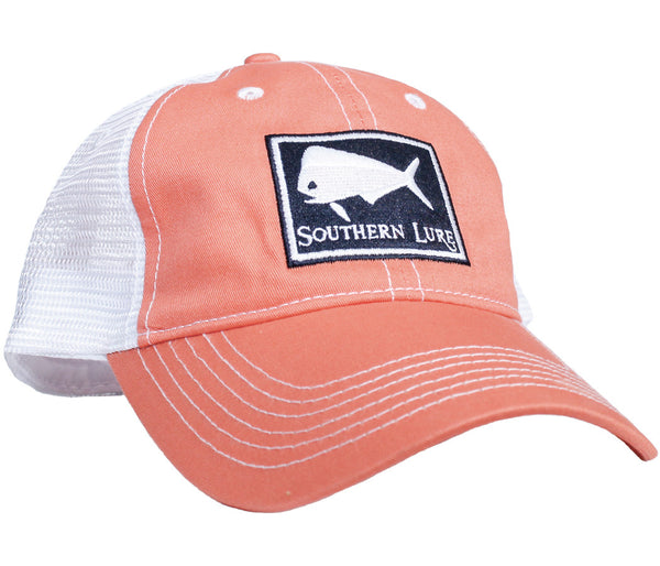 Trucker Hat - Melon w/Navy Patch