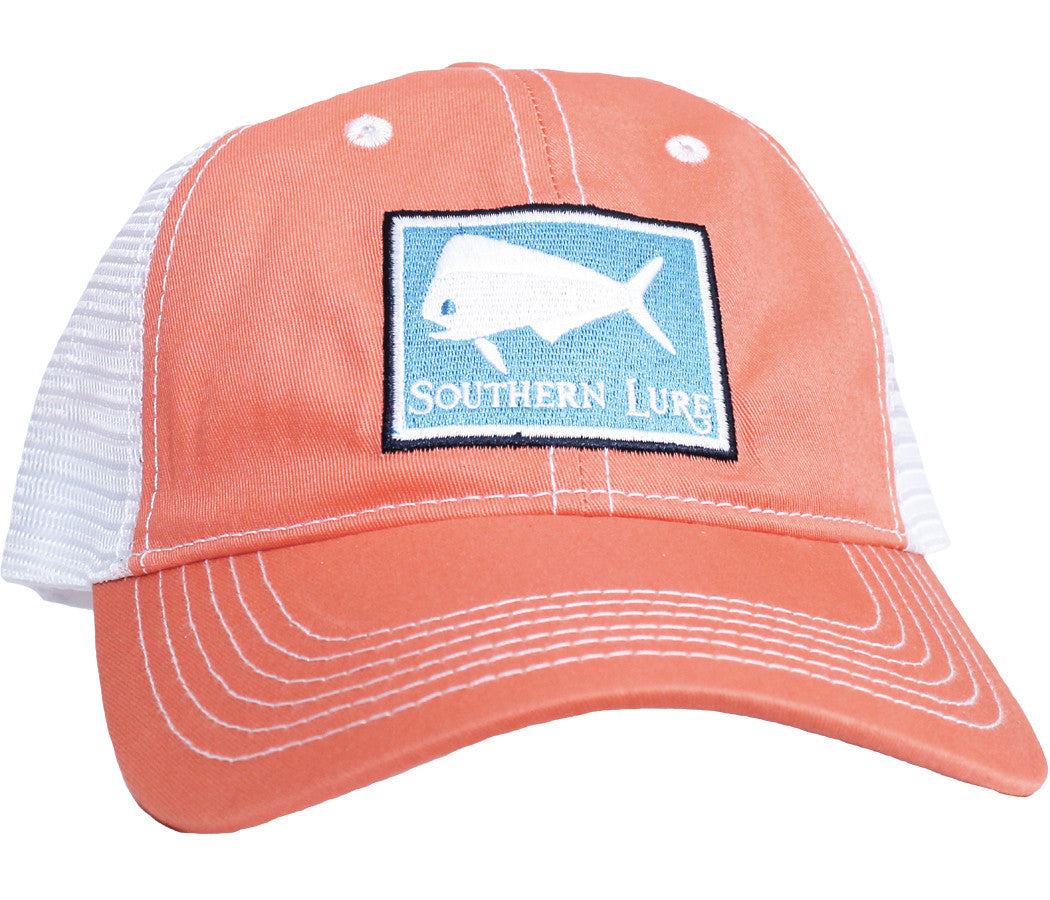 Trucker Hat - Melon w/Blue Patch