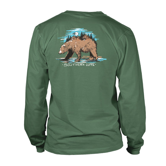 Youth & Toddler Long Sleeve Tee - Brown Bear - Oak Green