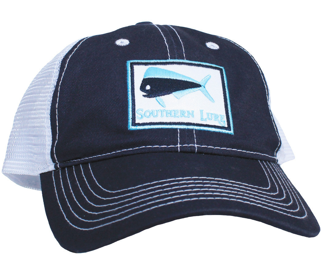 Trucker Hat - Navy Blue & White
