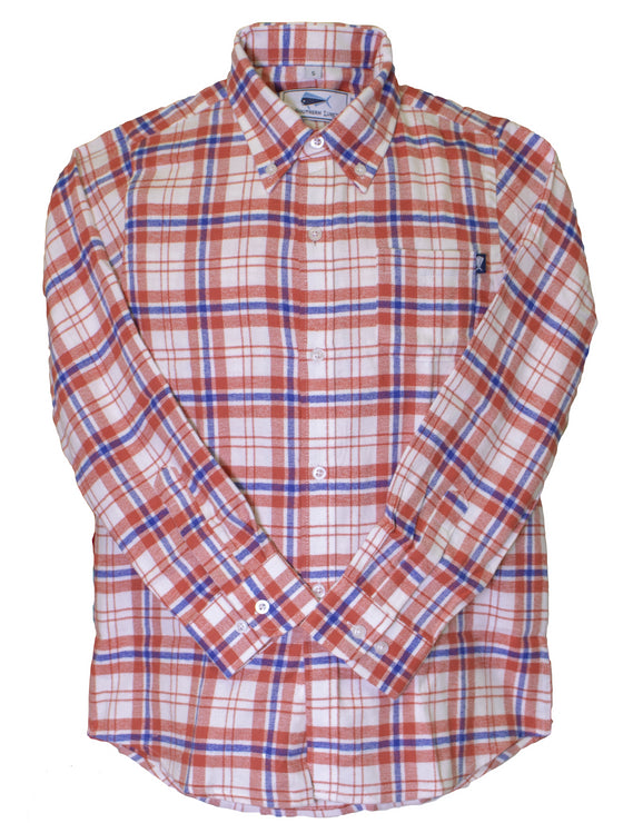 Youth Flannel Shirt - Red/White/Blue