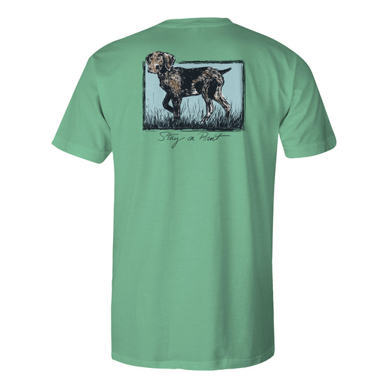 Youth & Toddler Short Sleeve Cotton Tshirt - Stay On Point - Seafoam