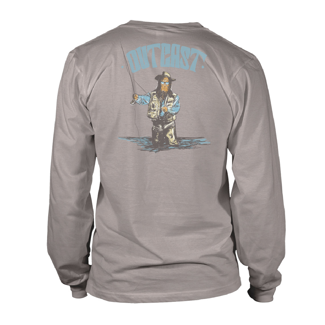 Men's Long Sleeve Whimsical Tee - Outcast - Granite