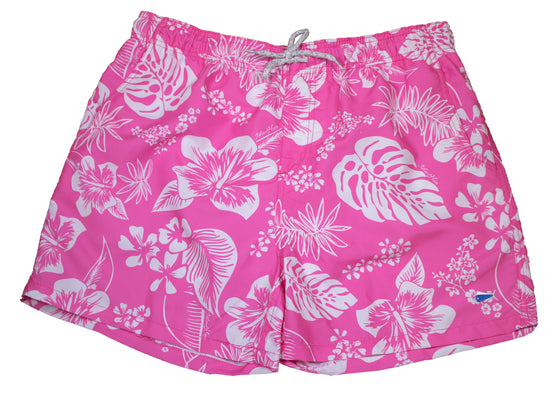 Adult - Swim Trunks 19 - Palm Life Pink