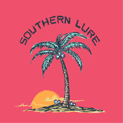 SS Tee - Palm Tree - Coral