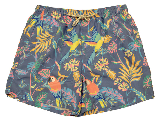 Men's Printed Swim - Parrots - Lilac