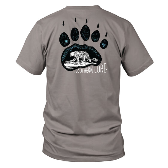 Youth & Toddler - Short Sleeve Tee - Bear Paw - Granite