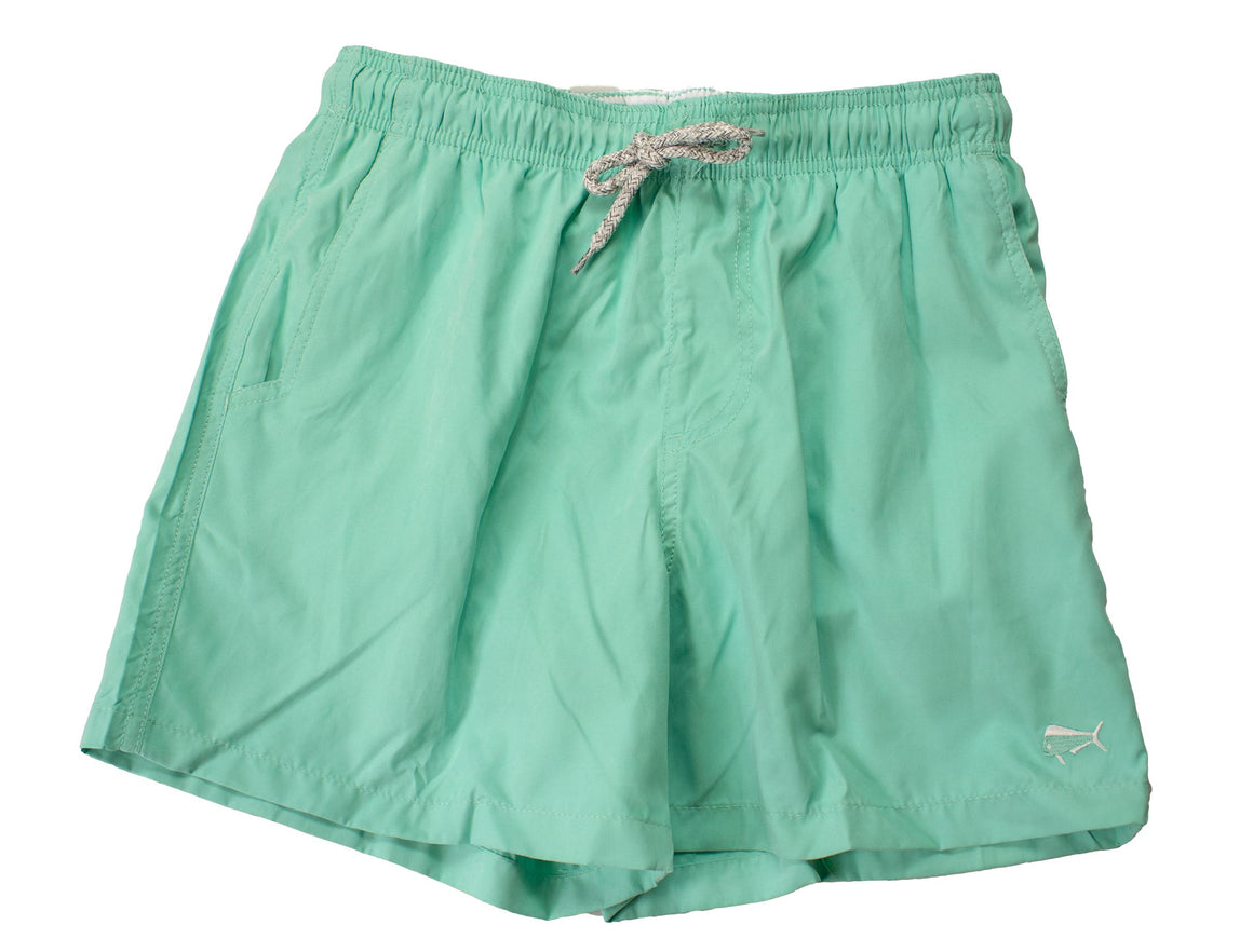 Boy's Youth & Toddler Swim -  Solid - Seafoam