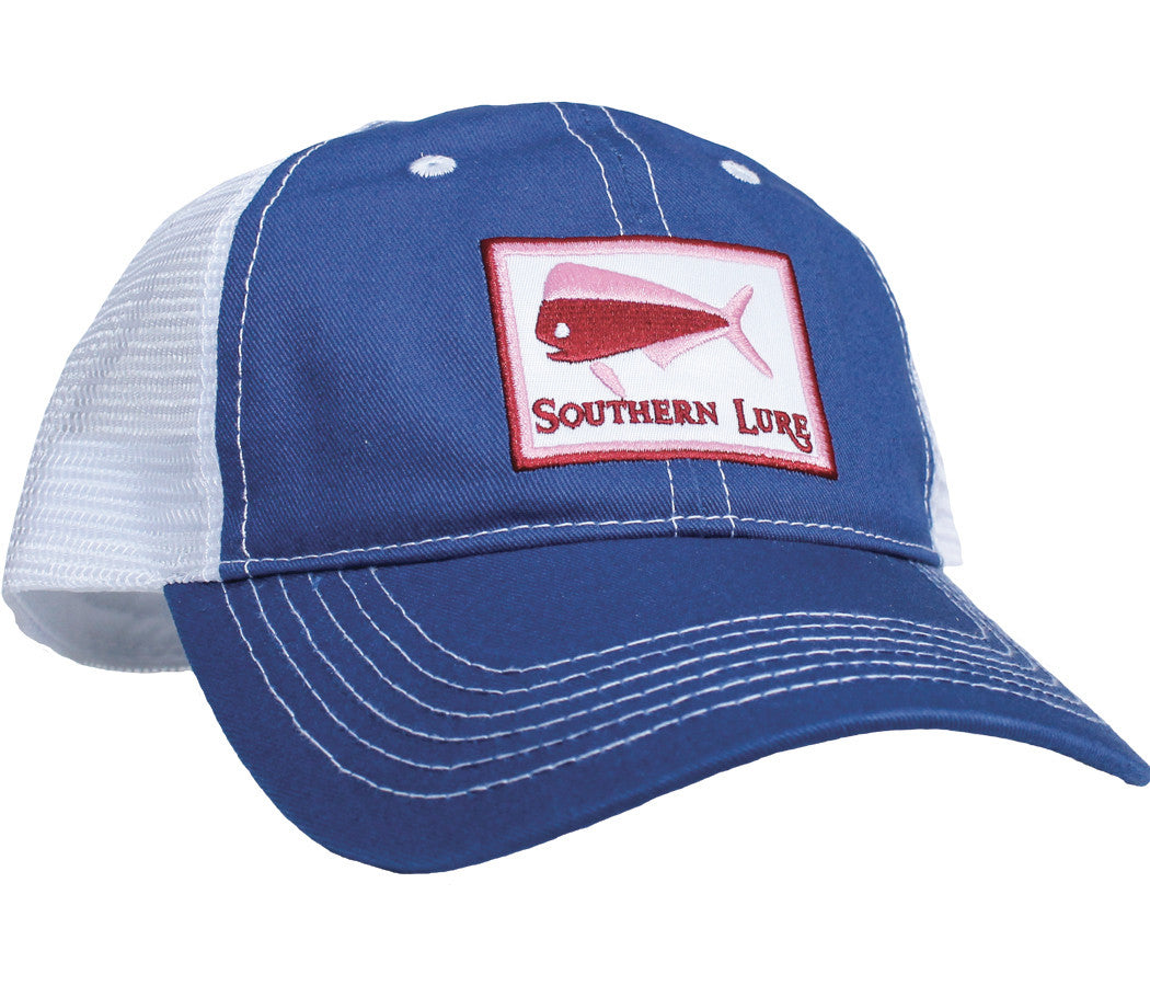 Trucker Hat - Royal Blue & White