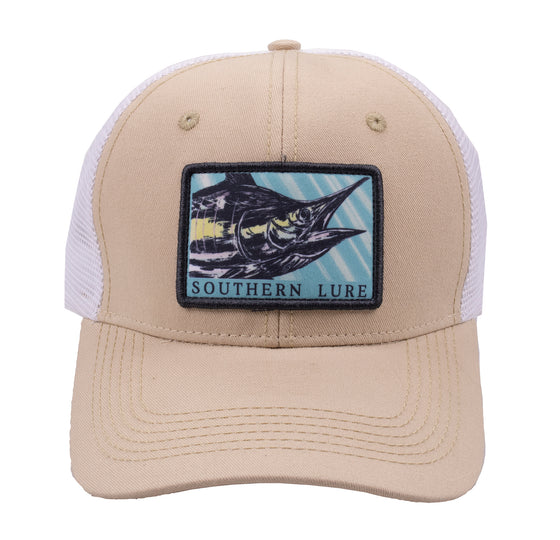 Trucker Hat - Sailfish - Tan/White