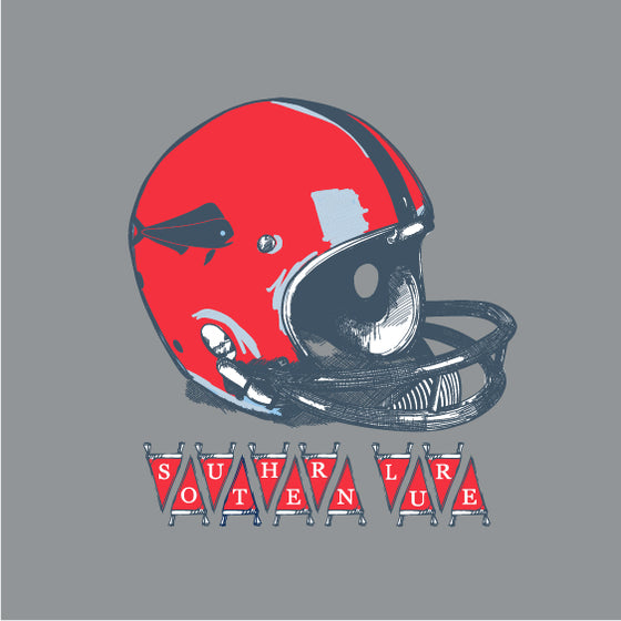 Youth - Long Sleeve Tee - Football Helmet - Granite