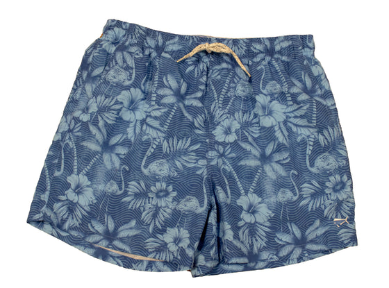 Boy's Printed Swim Youth & Toddler - Tropical Floral - Royal