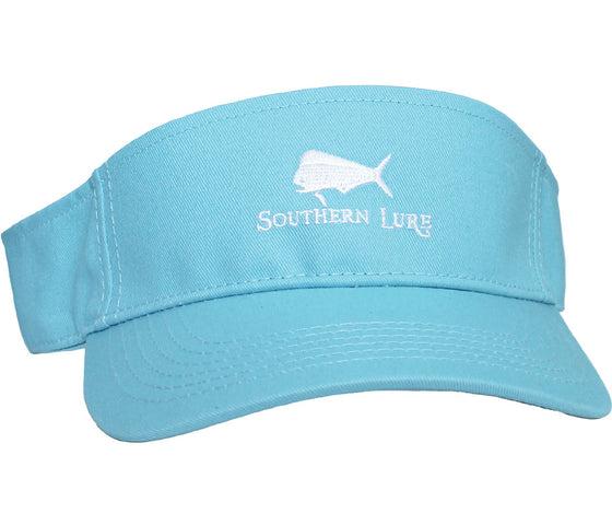 Aqua Embroidered Visor