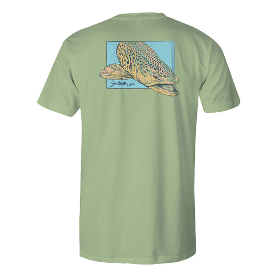 Boys Short Sleeve Cotton Tee - Verso Trout - Bay